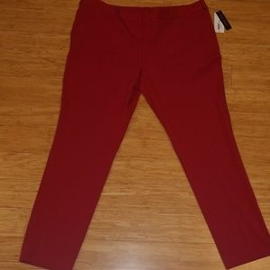 Ankle Length Red Pants